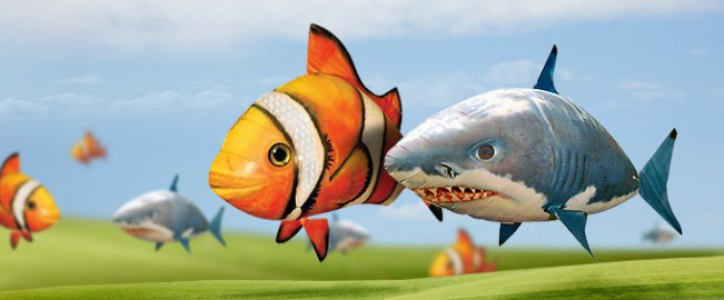 Air Swimmer Shark and Clownfish