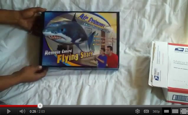 Air Swimmer Shark Unboxing