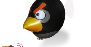 Black Angry Bird Air Swimmer Balloon